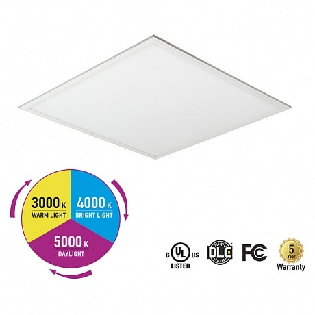 ASD Edge Lit LED flat panel dlc color temperature changing